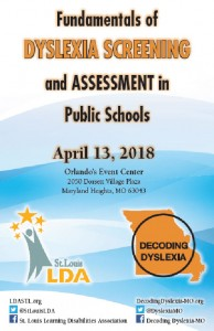 Fundamentals of Dyslexia Screening & Assessment in Public School @ Orlando's Event Center | Maryland Heights | Missouri | United States