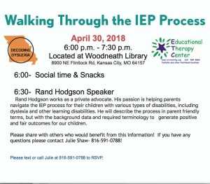 Walking Through the IEP Process @ Woodneath Library Center | Kansas City | Missouri | United States
